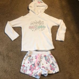 Justice unicorn PJ set, size 14, super cozy